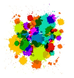 Colorful Transparent Stains Blots Splashes vector image