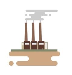 Concept of industrial factory buildings flat vector