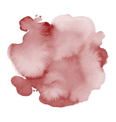 dark red stain splash watercolor hand-painted vector image