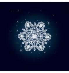 diamond snowflake vector image