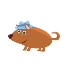 Dog Wearing A Hat vector