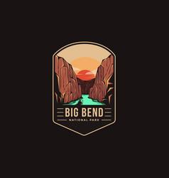 Emblem patch logo big bend national park vector