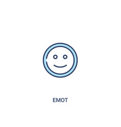 Emot concept 2 colored icon simple line element vector