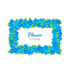 flower frame rectangular wreath with blossoms vector image