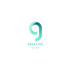 G green pastel gradient alphabet letter logo icon vector