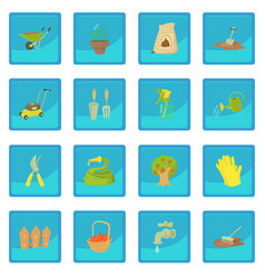 Gardener tools icon blue app vector