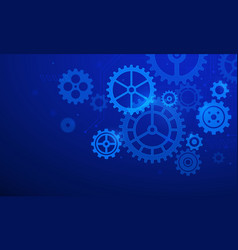 gears background abstract blue futuristic graphic vector image