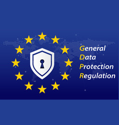 general data protection regulation called gdpr vector image