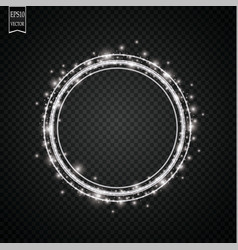 glow light effect circular lens flare abstract vector image