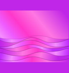 gradient waves with a shadow trend design paper vector image