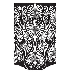 greek band design is a anthemion pattern from an vector image