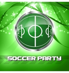 Green grass sphere with soccer field vector