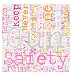 Gun safety for hunters text background wordcloud vector