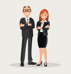 head company chief and secretary woman vector image