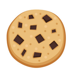 Homemade biscuit icon flat style vector