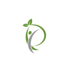 Human eco active logo vector