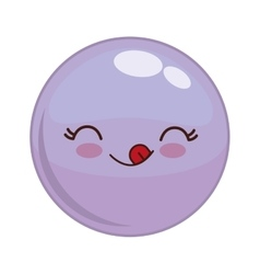 Kawaii face icon Cartoon face design vector image