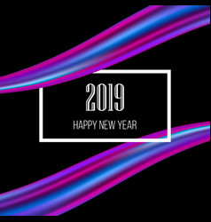 new year 2019 abstract background vector image