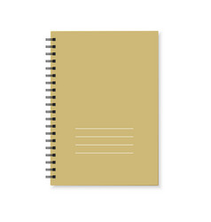 notebook with color cover and spiral binding vector image