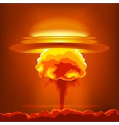 Nuclear explosion with dust vector image