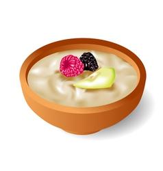 oatmeal vector image