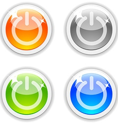 Onoff buttons vector image