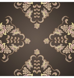 Ornamental round vintage pattern vector image