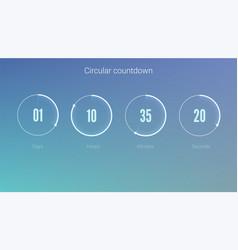 part user interface circular clock clock vector image