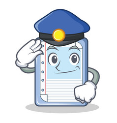 police clipboard character cartoon style vector image
