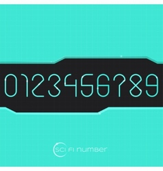 Sci Fi Number vector image