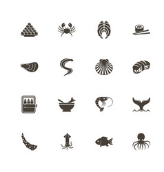 sea food - flat icons vector image