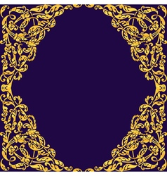 Seamless with vintage gold baroque ornament Can vector