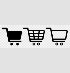 set shopping cart icons vector image