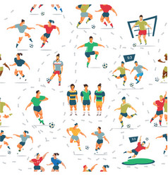 Soccer seamless pattern vector