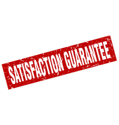 Square grunge red satisfaction guarantee stamp vector