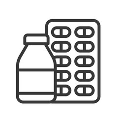 Syrup bottle and capsule pharmaceutical related vector
