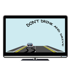 Television advertisement do not drink drive vector