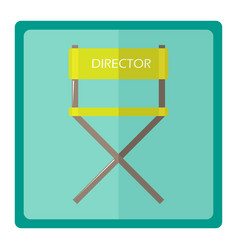 The film director chair vector