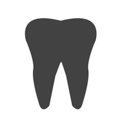 tooth glyph black icon vector image