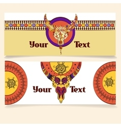 Tribal indian graphic vector image