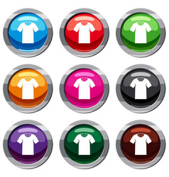 Tshirt set 9 collection vector