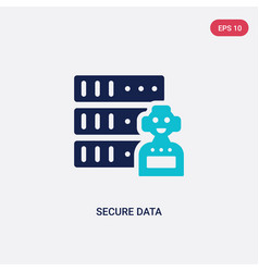 two color secure data icon from artificial vector image