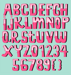 Vintage font collectioncartoon font vector