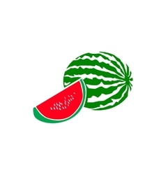 Watermelon icon simple style vector image