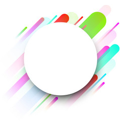 white round background with colour strips vector image