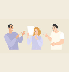 Young people with different emotions and gestures vector