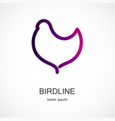 bird symbol design vector image