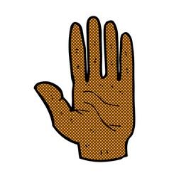 comic cartoon hand vector image