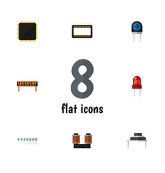 Flat electronics set of cpu bobbin destination vector