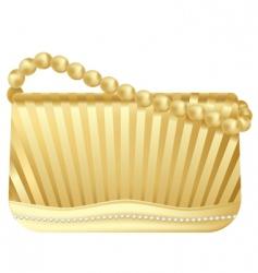 golden handbag vector image vector image